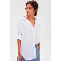 Trendyol White Boyfriend Shirt