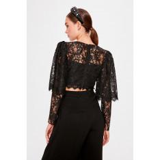 Trendyol Black Lace Detailed Blouse
