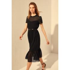 Dámske šaty Trendyol Mint Belt