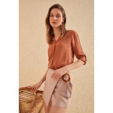 Trendyol Cinnamon Basic Shirt