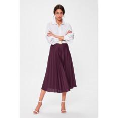 Trendyol Purple Pilise Knitted Skirt