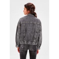 Trendyol Anthracite Skirt Tip Tire Denim Jacket