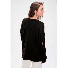 Trendyol Black Spill Knitwear Sweater