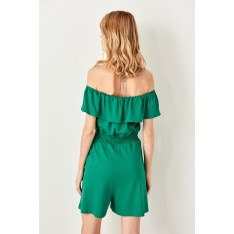 Trendyol Green Frilly Knitted Jumpsuit
