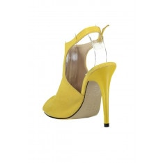 Trendyol Yellow Suede Women's Wedge-Heeled Shoes