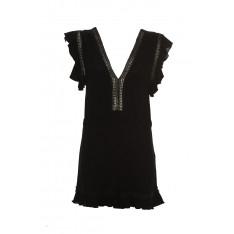 Trendyol Black Viscose Flanged Jumpsuit