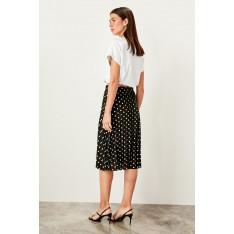 Trendyol Black Polka dot Knitted skirt