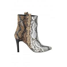 Trendyol Beige Snake Patterned Women's Boots