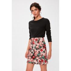 Trendyol Black Patterned Miniskirt