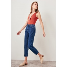Trendyol Blue High Waist Mom Jeans