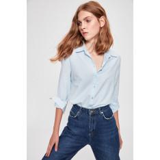 Trendyol Blue Epaulette Shirt