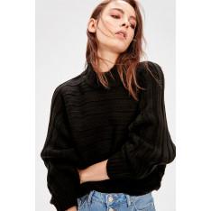 Trendyol Black Bat Arm Knitwear Sweater