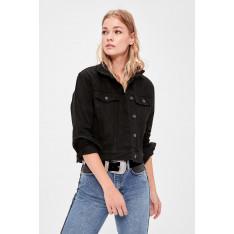 Trendyol Black Crop Denim Jacket