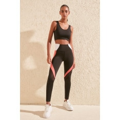 Trendyol Black Tulle Detailed Sports Tights
