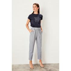 Trendyol Blue Belt detailed trousers