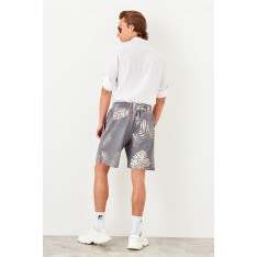Trendyol Black Mens Printed New shorts