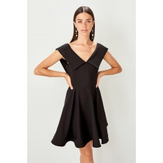 Trendyol Black Collar Detailed Dress