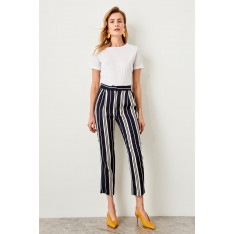 Trendyol Dark Blue Striped Trousers