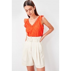 Trendyol Coral Embroidery Detailed Blouse