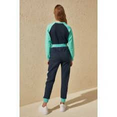 Trendyol Multi-Color Block Knitted Tracksuit bottom