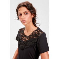Trendyol Black Lace Detailed Knitted Blouse