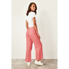 Trendyol Red striped trousers