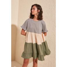 Ženska haljina Trendyol Pucker Detailed Knitting