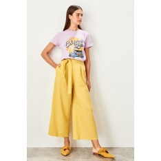 Trendyol Yellow Tie detailed trousers
