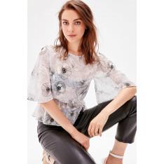 Trendyol Grey Patterned Blouse