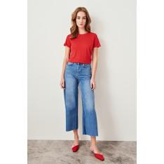 Trendyol Red Basic Bicycle Collar Knit t-shirt