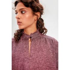 Trendyol Burgundy Steep Collar Knitted Blouse