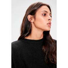 Trendyol Black Bicycle Collar Asymmetric Sweater