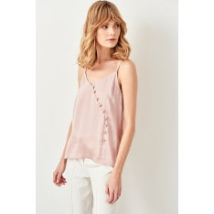 Trendyol Powdered Button Detailed Blouse