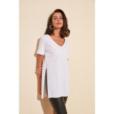 Γυναικεία μπλούζα Trendyol V Collar Asymmetric