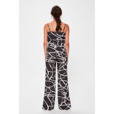 Trendyol Baggy Trousers with Black Pattern