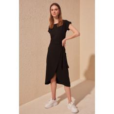 Trendyol Black Binding Detailed Knitting Dress