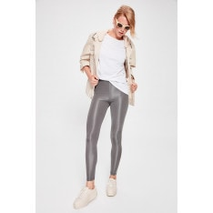 Trendyol Silver Glossy Disco Knitted Tights