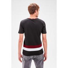 Trendyol Black Men's Bicycle Collar Printed Short Sleeve New T-shirt