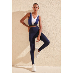 Trendyol Navy Blue Zipper and Pocket Detailhigh Waist Sports Tights