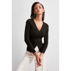 Trendyol Black Cruiser Detailed Knitwear Sweater