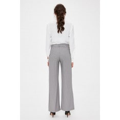 Trendyol Black Goose Foot Patterned Pants