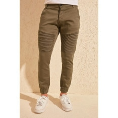 Trendyol Khaki Male Ribbed Slim Fit Jogger Pants
