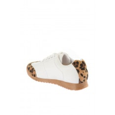 Trendyol White Leopard-Patterned Women's Sneaker