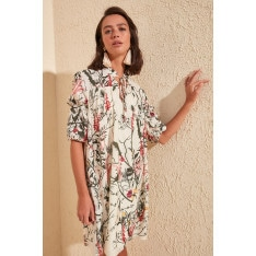 Trendyol Cream Patterned Dress