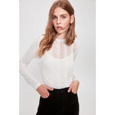 Trendyol Ekru Lacy Knitted Blouse