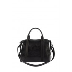 Trendyol Black Croco Belt, As Well As Detailed Shoulder Bag