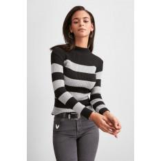 Trendyol Black Upright Collar Knitwear Sweater