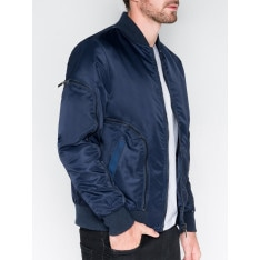 Ombre Clothing Men's mid-season bomber jacket C332