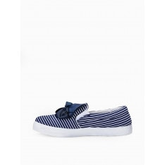 Larica Women's trainers with bow LR259 navy