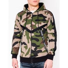 Ombre Clothing Men's zip-up hoodie B775